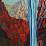 Through The Narrows, Zion Poster by Erin Fickert-Rowland