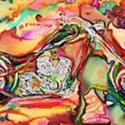 Chameleon Lowrider Art Print