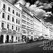 White Buildings In Prague Art Print by John Rizzuto