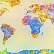 Abstract Earth Map 2 Art Print by Bob Orsillo