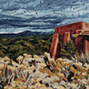 Echoes Of Tularosa, Museum Hill, Santa Fe, Nm Print by Erin Fickert-Rowland