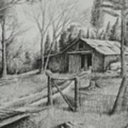 Ma's Barn And Truck Art Print