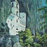 Monastery Ostrog Montenegro Art Print