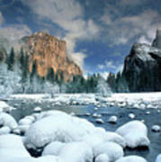 Winter Storm In Yosemite National Park Art Print
