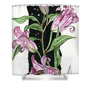 Flower Lily 01 Elena Yakubovich Shower Curtain by Elena Yakubovich
