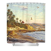 Heisler Park Rockpile At Twilight Shower Curtain
