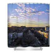 Sunset Row Homes Shower Curtain