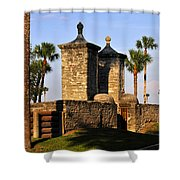 The Old City Gates Shower Curtain by David Lee Thompson