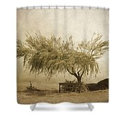 A Sky The Colour Of Memory Shower Curtain