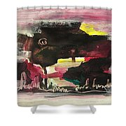 Abstract Twilight Landscape71 Shower Curtain