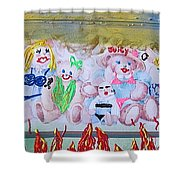 Bad Bears Shower Curtain