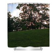 Beautiful Day In The Park Shower Curtain