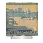 Brooklyn Bridge Late Afternoon Shower Curtain