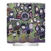 Chris Daniels And Friends Shower Curtain
