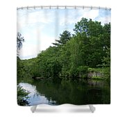Clear River 1 Shower Curtain