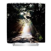 Country Road, Kenmare, Co Kerry, Ireland Shower Curtain by The Irish Image Collection