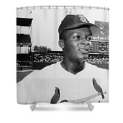Curt Flood (1938- ) Shower Curtain