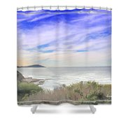 Do-00018 Look Out At Terrigal Shower Curtain