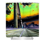 Dreaming Over The Skyway Shower Curtain by David Lee Thompson