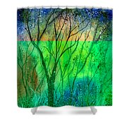 Forest Fire Shower Curtain