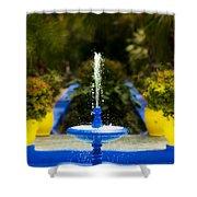 Fountain In Jardin Majorelle Morocco Shower Curtain