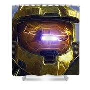 Halo Mistical Shower Curtain