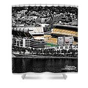 Heinz Field Shower Curtain by Scott Wyatt