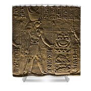Hieroglyph At Edfu Shower Curtain by Darcy Michaelchuk