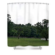 Historic Appomattox Panorama  Shower Curtain by Teresa Mucha