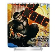 King Kong Poster, 1933 Shower Curtain