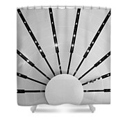 Light Bursts Shower Curtain