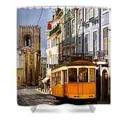 Lisbon Tram Shower Curtain