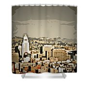 Los Angeles City Hall Shower Curtain