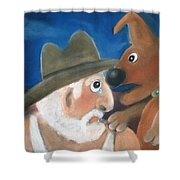 Mans Best Mate Shower Curtain