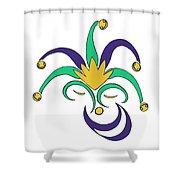Mardi Gras Jester Shower Curtain