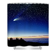 Mauna Kea Telescopes Shower Curtain by D Nunuk and Photo Researchers