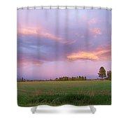Montana Sunsets 3 Shower Curtain
