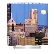 Moon Over Pittsburgh 2 Shower Curtain by Emmanuel Panagiotakis