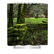 Mossy Fence 2 Shower Curtain