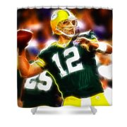 Mystical Aaron Rodgers Shower Curtain by Paul Van Scott