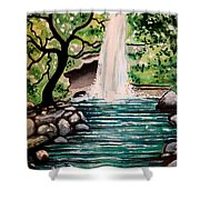 Mystical Waterfall Shower Curtain