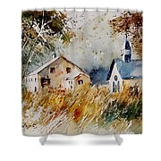 Old Chapel In Herhet Shower Curtain