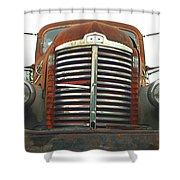 Old International Gravel Truck Shower Curtain by Randy Harris