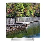 Peaceful Pier Shower Curtain