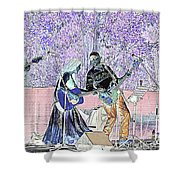 Performers On Stage Shower Curtain