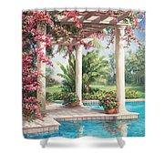 Poolside Garden Shower Curtain