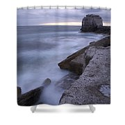 Portland Bill Seascapes Shower Curtain