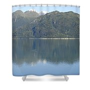 Reflective Moment In Glacier Bay Shower Curtain