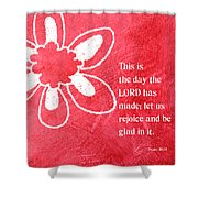 Rejoice Shower Curtain