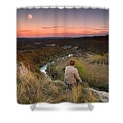 River And Moon Shower Curtain